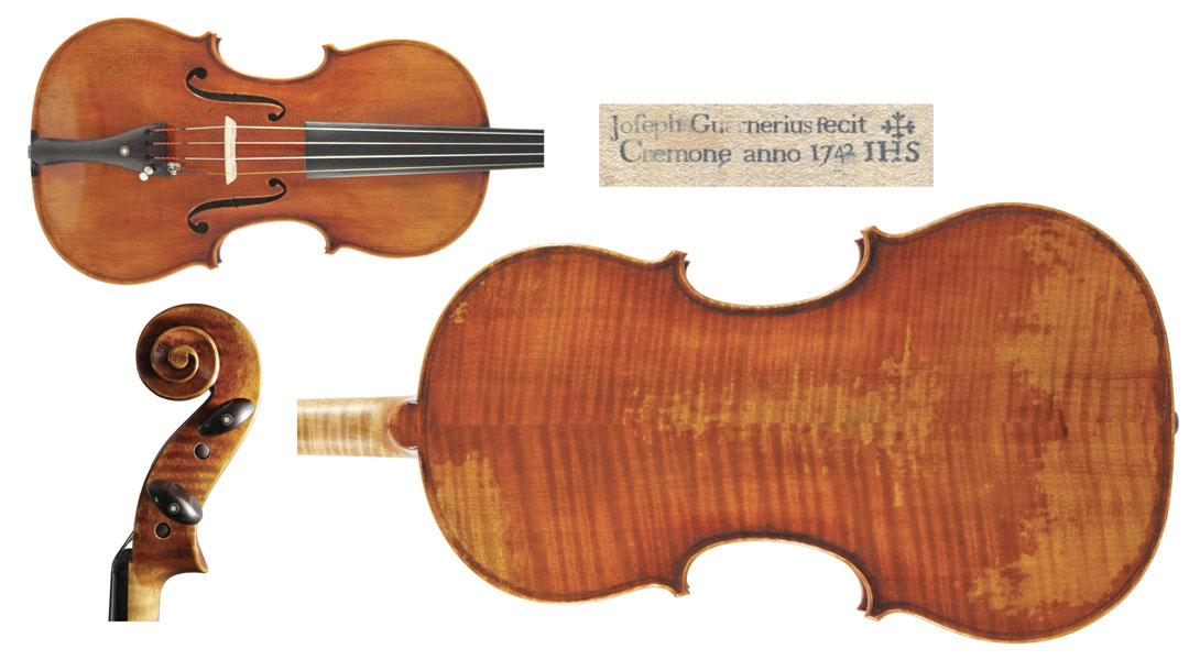 Guarneri Violin. Giuseppe Guarneri del Gesù, Cremona 1742