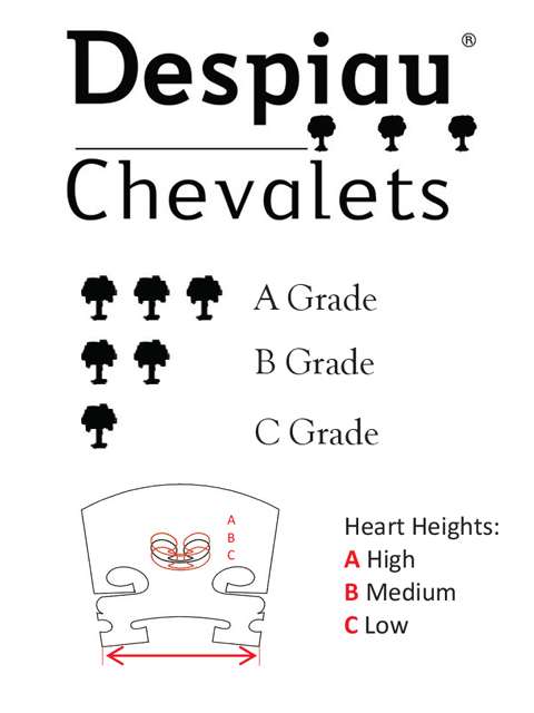 Despiau Guide to Heart Heights & Grades