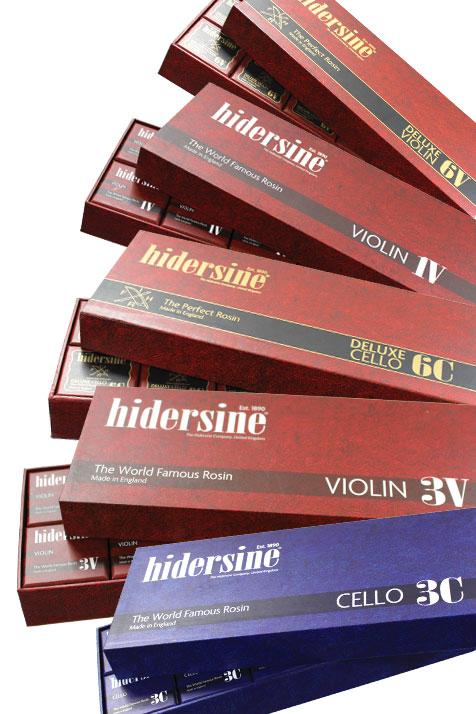 Hidersine Rosin Packaging 2017