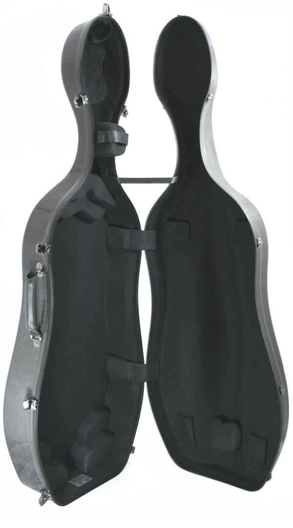 K3 Natural Carbon Weave Cello Case Interior