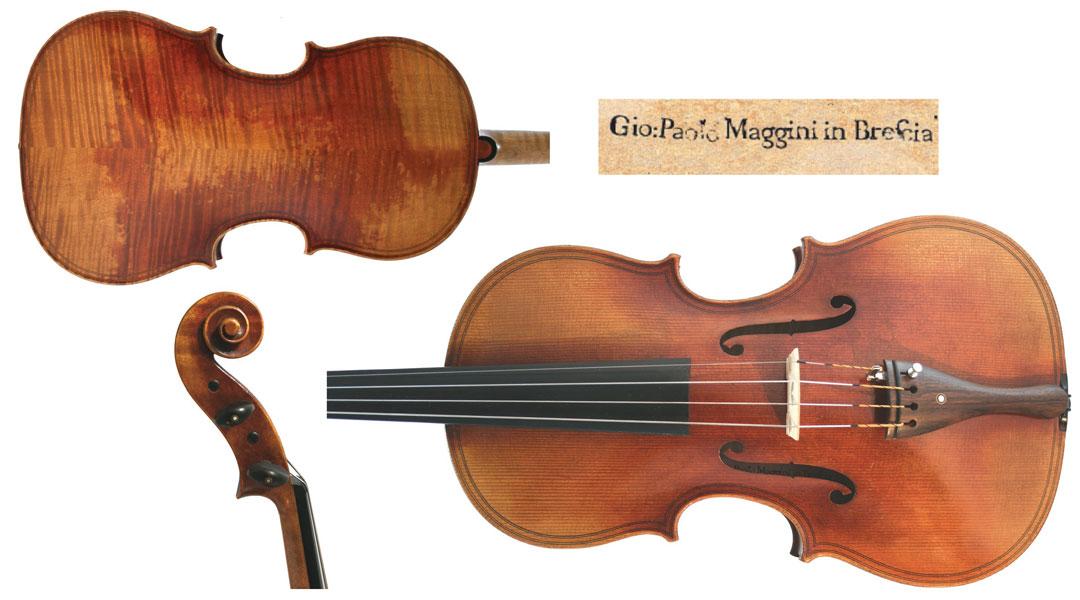 Maggini Viola. 'Dumas' by Giovanni Paolo Maggini c.1600