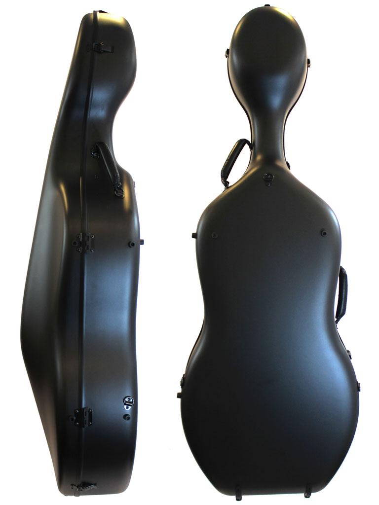 Orchestra Cello Case Matt Black Textured