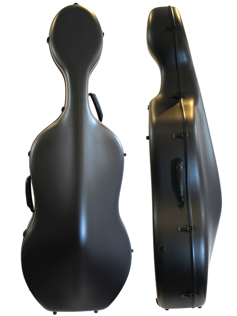 Orchestra Cello Case Matt Black