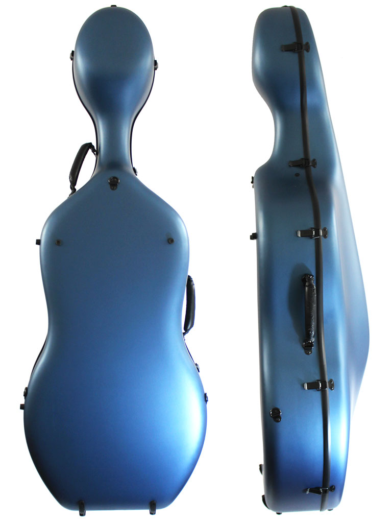 Orchestra Cello Case Matt Blue