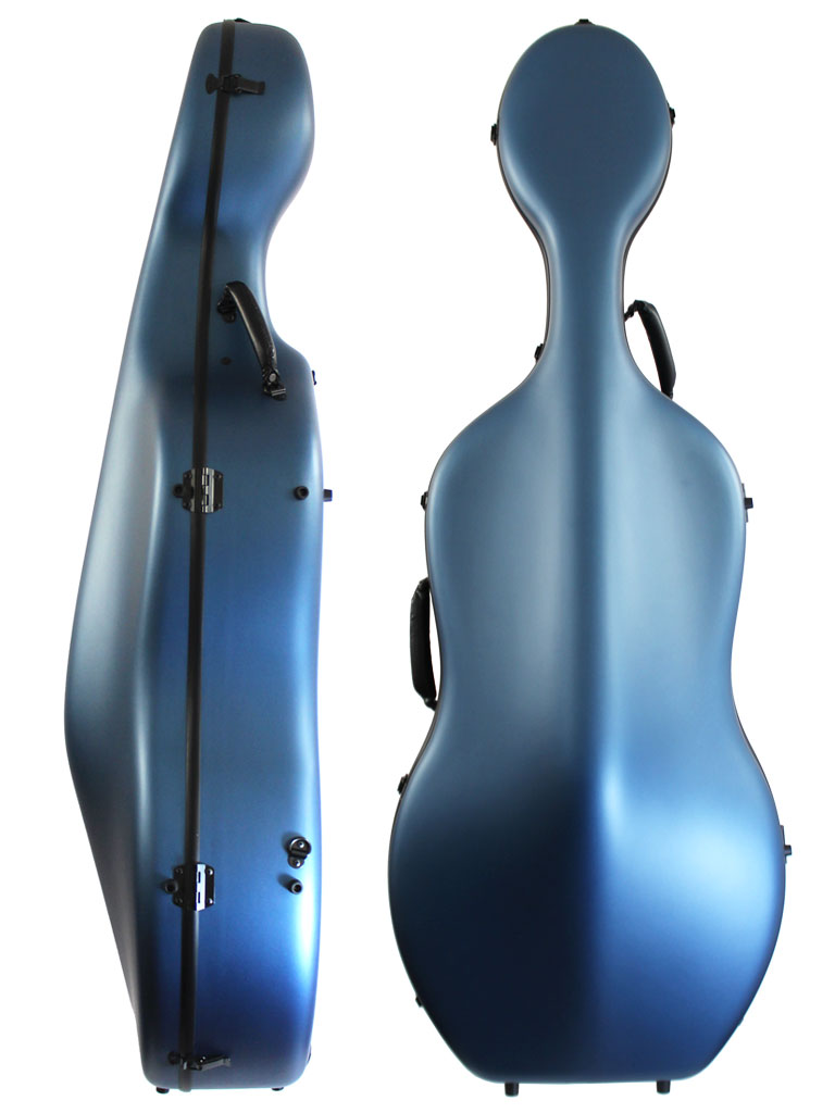 Orchestra Cello Case Blue Front