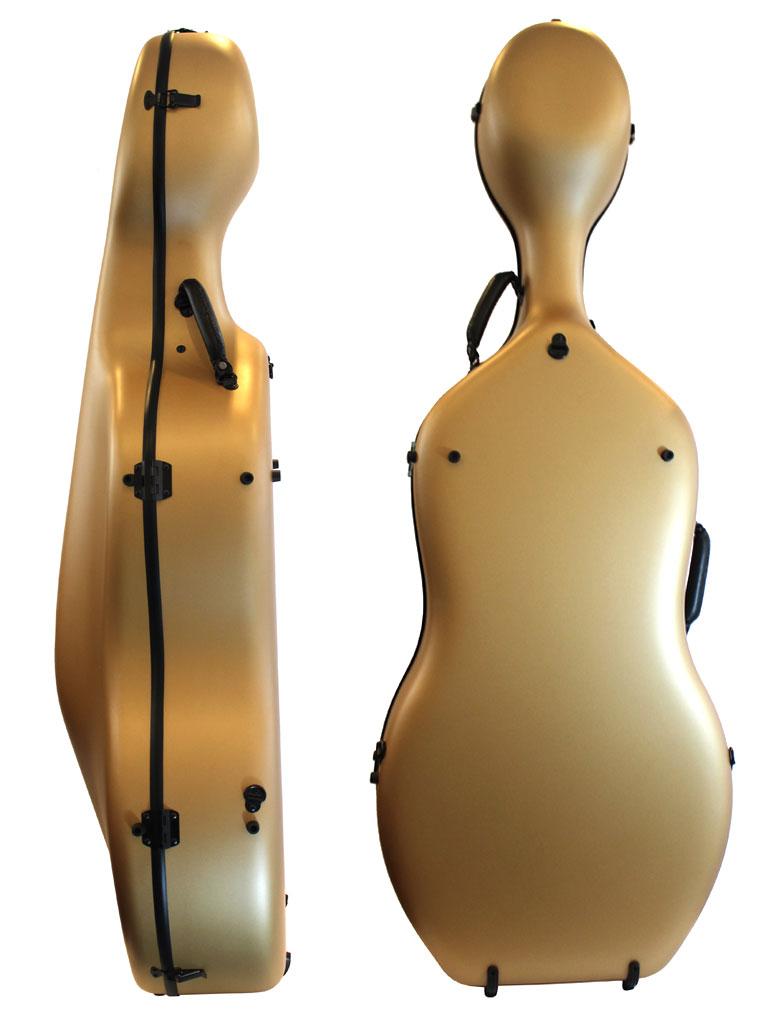 Orchestra Gold Cello Case Rear/Side