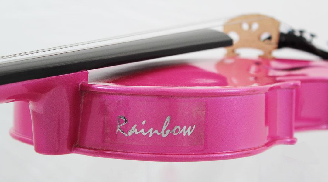 Rainbow Violin. The Primavera Rainbow Pink Coloured Violin for School.