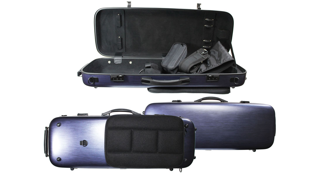 AC161 Brushed Blue PC Violin Case