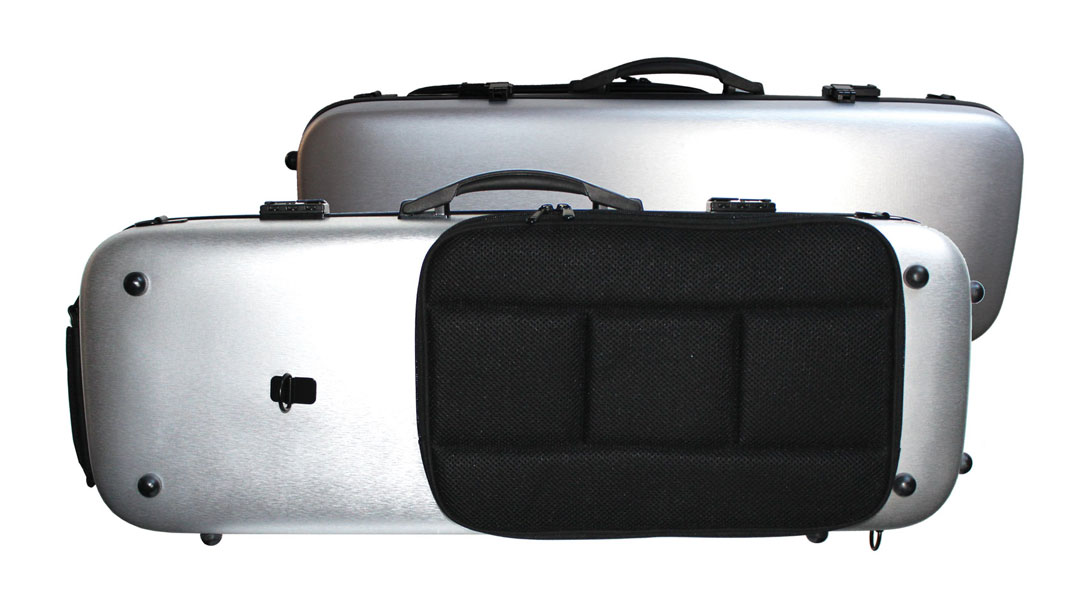 AC164 Brushed Silver PC Violin Case