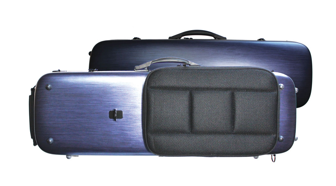 VC161 Brushed Blue PC Violin Case