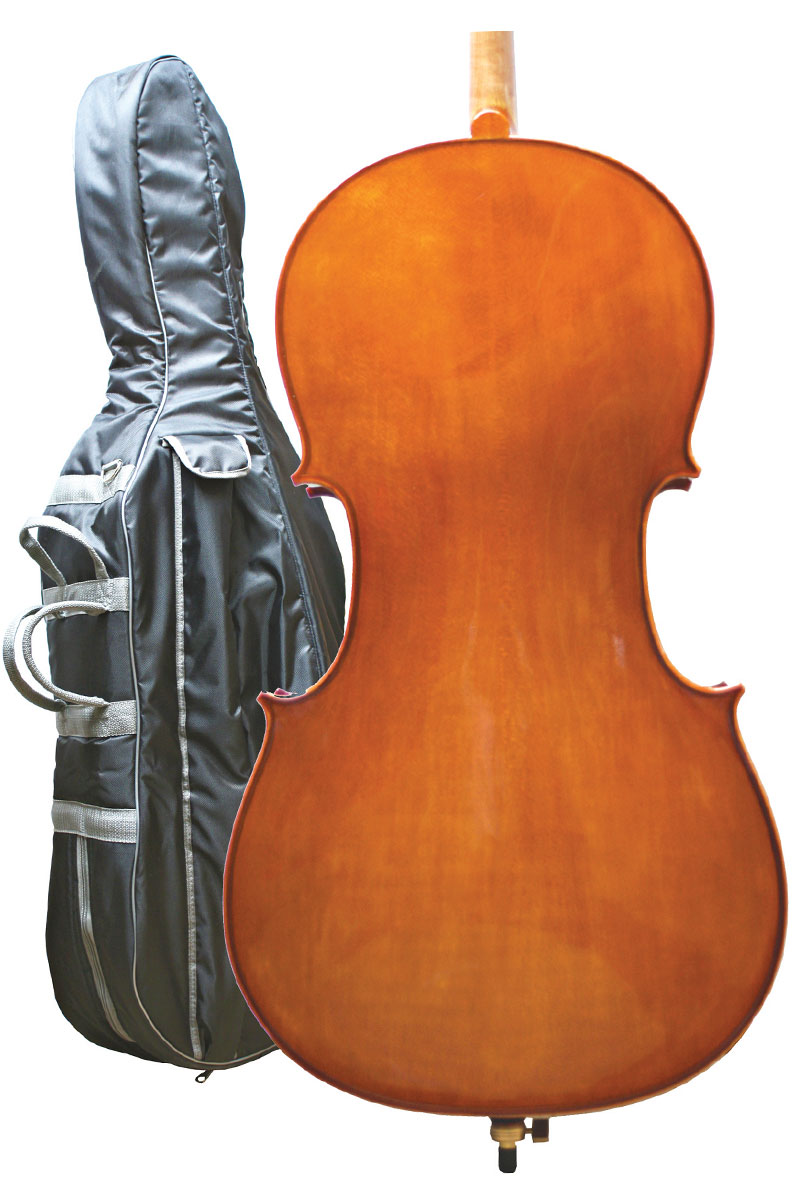 Primavera Cello Bag with Instrument (instrument for illustration)