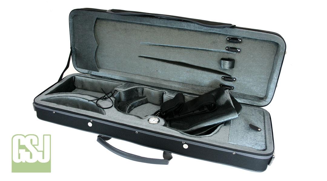 VC175 GSJ Oblong Violin Case Open