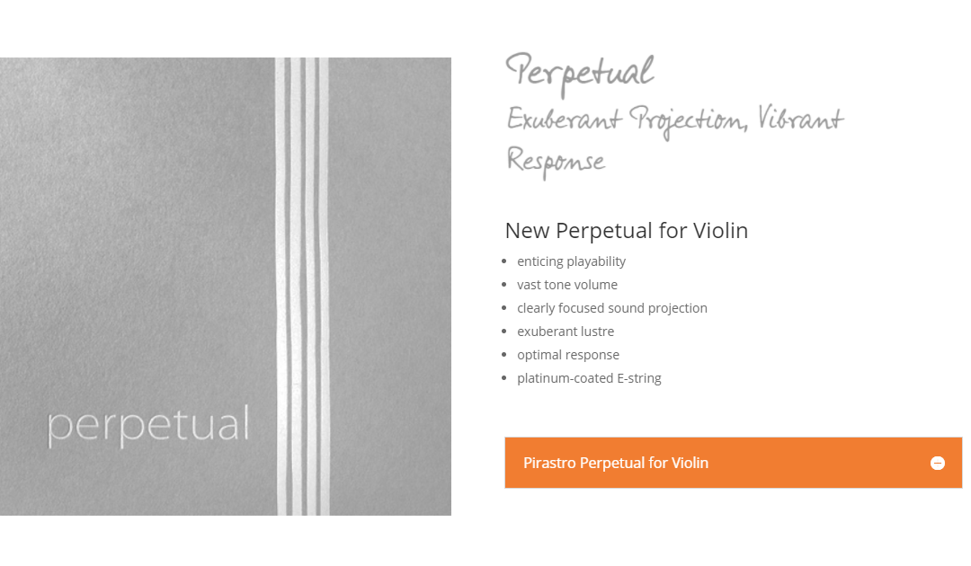 New Pirastro Perpetual for Violin