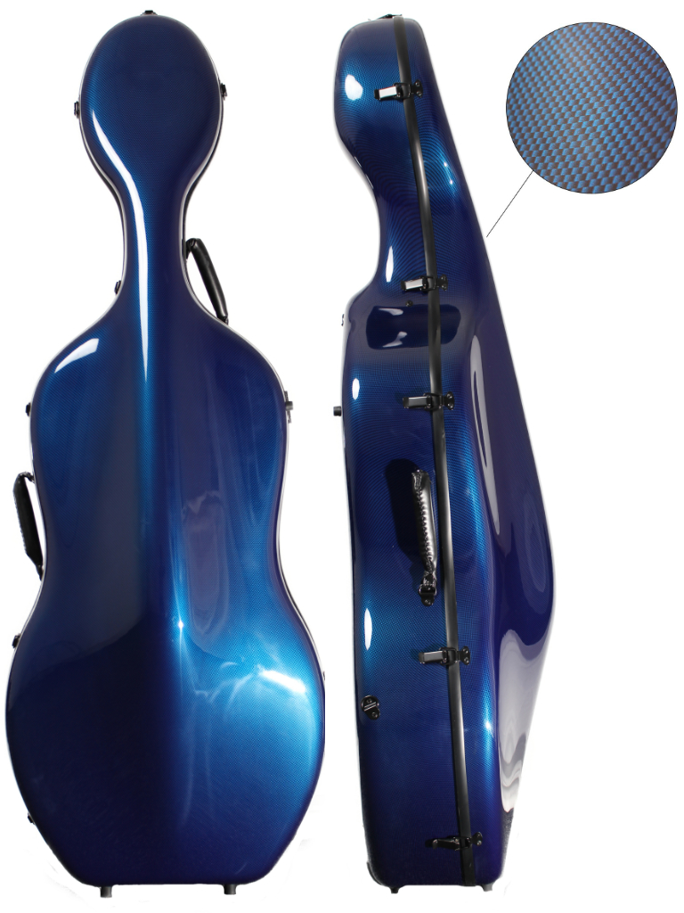 Orchestra Cello Case Blue Weave
