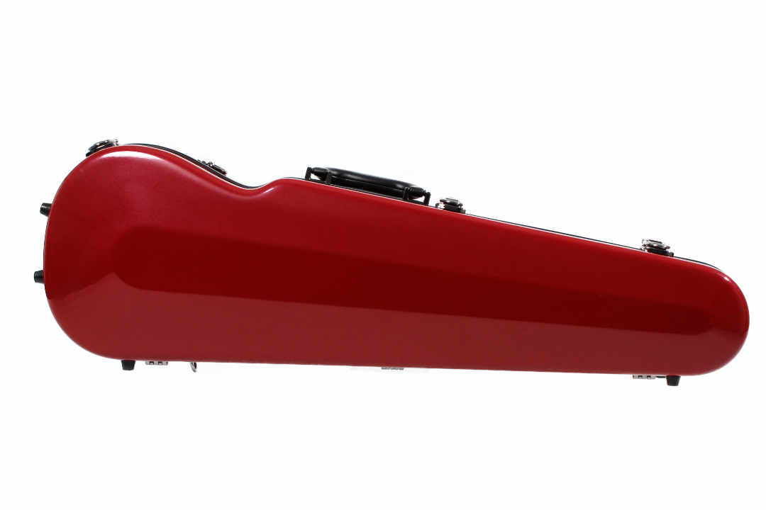 Sinfonica Violin Case Shaped Cherry Red