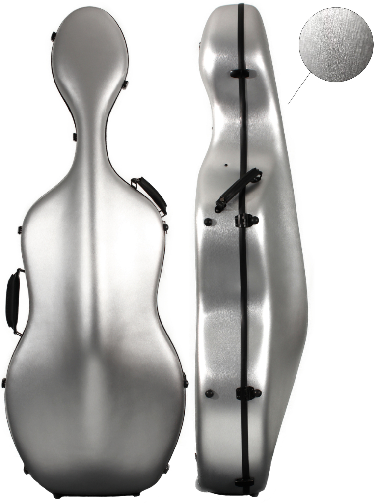 CC164 Young PC Cello Case Brushed Silver