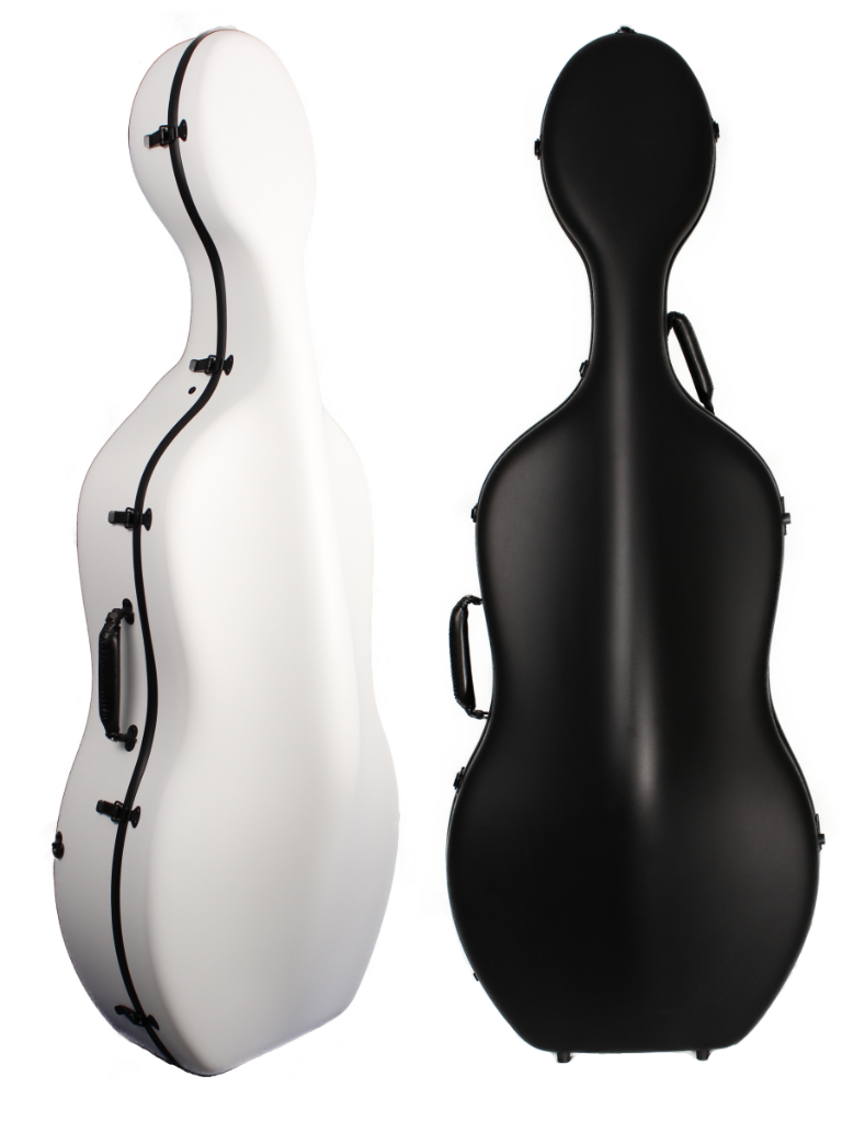 Orchestra Cello Case Matt Black/White