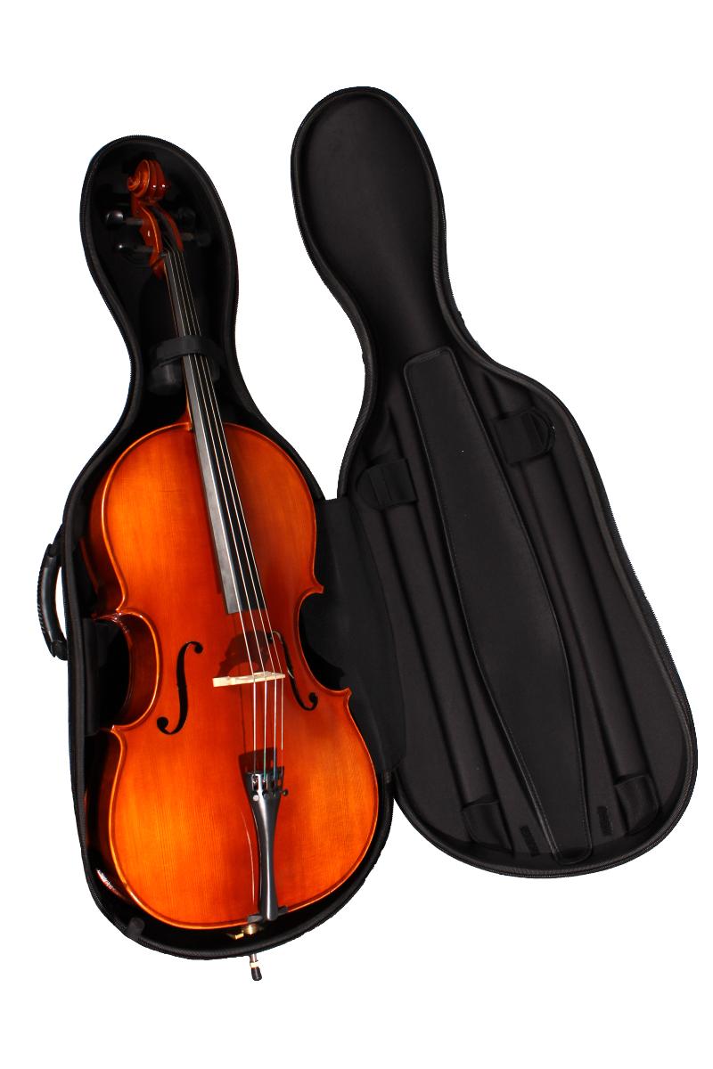 CC010 Semi-Rigid Cello Case (instrument for illustration)