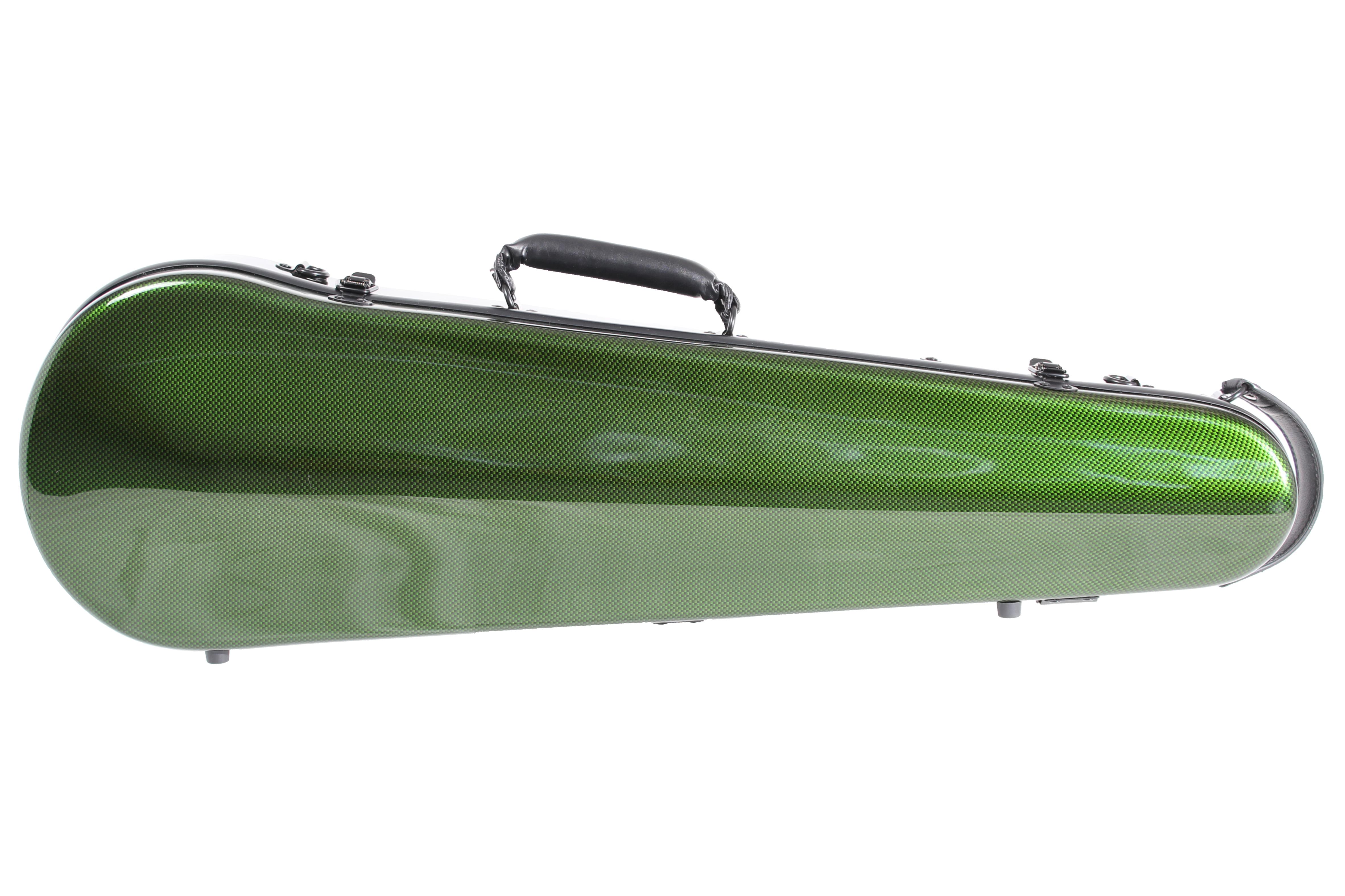 Orchestra Carbon Fibre Violin Case Green