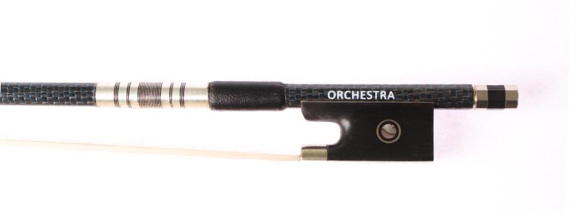 Orchestra Carbon Fibre Blue Weave Violin VB018 Frog