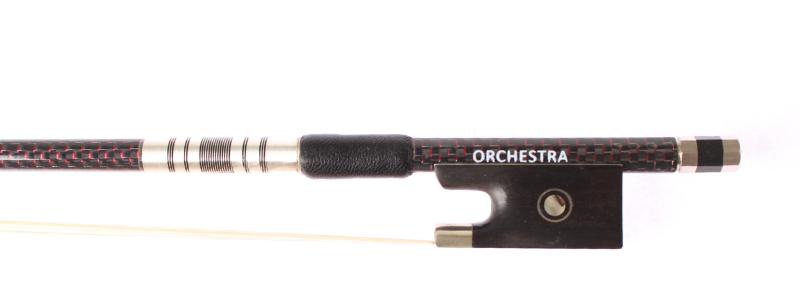 Orchestra Carbon Fibre Red Weave Violin VB018 Frog