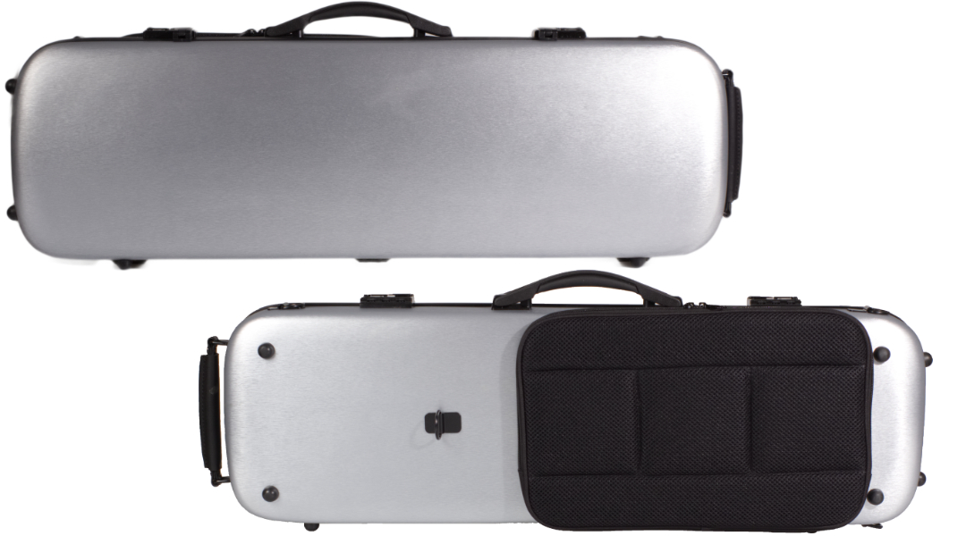 VC164 Brushed Silver PC Violin Case