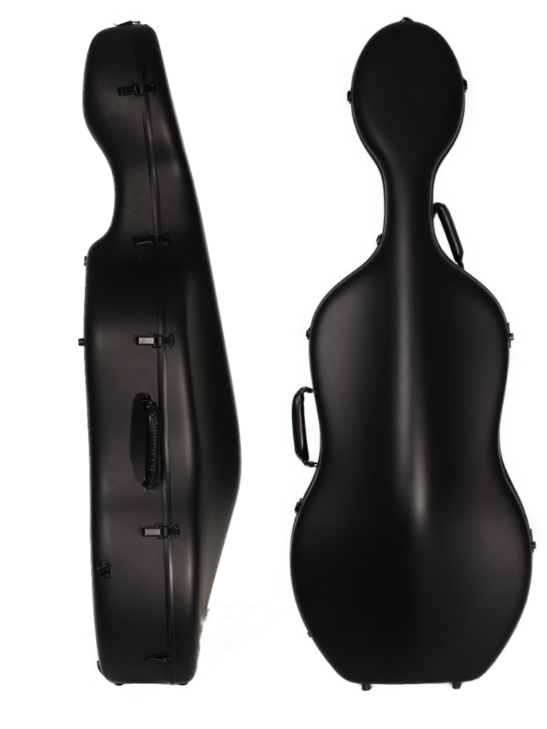 Orchestra Cello Case Matt Black/White